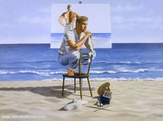 Number 139 - Painting by Steve Walker - Canadian Male Body Art, Walker Art, Devon And Cornwall, Beach Mat, Artist, Painting, Number, Gay Art, Artists