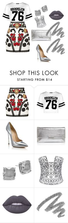 """""""Untitled #180"""" by anjola112 on Polyvore featuring Dolce&Gabbana, Boohoo, Casadei, Loeffler Randall, Kate Spade, Kendra Scott, Lime Crime and Yves Saint Laurent"""