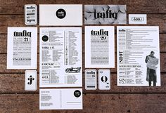 Trafiq  Budapest, Hungary         DESIGNED BY KISSMIKLOS.  Channeling a sense of both nostalgia and wonderment, Trafiq's type-based identity system from kissmiklos is a playful mixture of early twentieth-century typography and a contemporary, psychedelic visual language that, together, pay homage to the tiny, toy store-like shops for which the club is named.