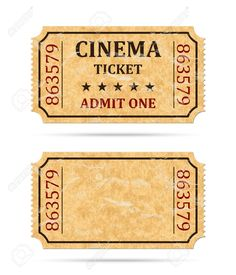 Retro cinema ticket and empty ticket , Retro Kinokarte und leere Karte, Ticket Cinema, Cinema Party, Cinema Wallpaper, Image Cinema, Album Photo Scrapbooking, Outdoor Movie Nights, Ticket Design, Movie Night Party, How To Make Cupcakes