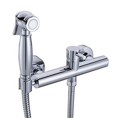 48.21$  Buy here - http://aliy37.shopchina.info/1/go.php?t=32621129092 - Toilet Bidet Sprayer Faucet Mixing Valve with Hose, Bracket and Brass Sprayer Wall Mount , Polished Chrome  #magazineonlinewebsite