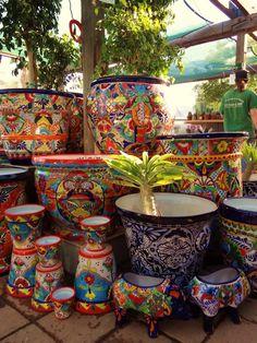 Para las plantas...un toque mexicano en la decoración