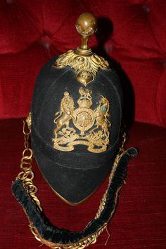 Antique Royal Army Medical Corps RARE Gilt Home Service Uniform Helmet pre WW1