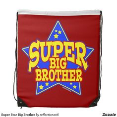 Super Star Big Brother Drawstring Backpack
