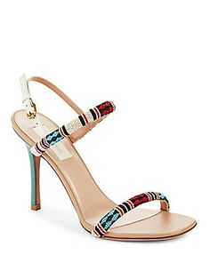 VALENTINO GARAVANI Beaded Open Toe Sandals...