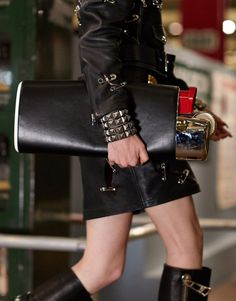 BIC Lighter Purse : ATBGE Bic Lighter, New York Subway, Weird Fashion, New Bag, Moschino, Leather Skirt, Purses, Elegant, Boots