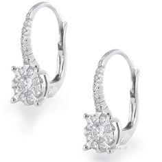 Orecchini Fantasia in oro e diamanti ct 0.47 G Gioielli Valenza gioielloro.it - E-Commerce - Vendita on line di orologi e gioielli - 18 kt white gold earrings with diamonds