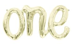 One Balloon (White Gold) - First Birthday - Boy or Girl Baby Gold Letter Balloons Banner Decoration 1 First Bday Ideas One Balloon, Large Balloons, Letter Balloons, Mylar Balloons, Balloon Pump, Photo Balloons, Giant Balloons, Confetti Balloons, Santiago