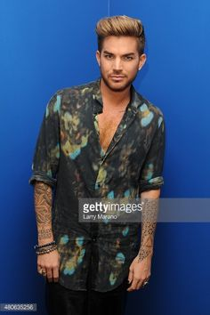 Adam Lambert poses for a portrait at Radio Station Y-100 on July 13, 2015 in Miami, Florida.