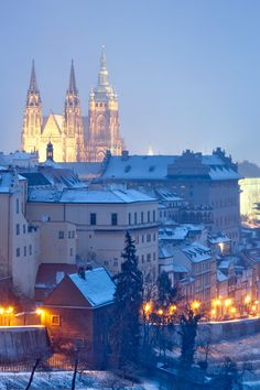 Prague, Czech Republic For literature lovers who also like a party, plan a trip to Prague. Places In Europe, Oh The Places You'll Go, Places To Travel, Travel Destinations, Travel Tips, Winter Destinations, Albania, Wonderful Places, Beautiful Places