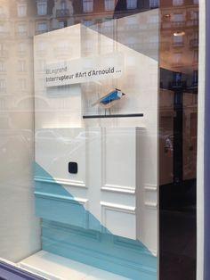 La nouvelle vitrine 2016 de notre showroom - Le Lab by Legrand - 38 rue du Bac à Paris