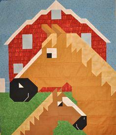 Horse Quilt Block Pattern