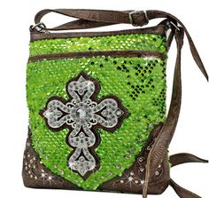 GREEN SEQUIN CRYSTAL CROSS Bag! X-Body PURSE Bag! Crystal Bling! Available at Posh By Tori Boutique. Check out our store on YouTube! https://www.youtube.com/watch?v=kpzTlDVy16k  - If you're not in MI and would like to order, send us an email or contact us through facebook: http://www.facebook.com/poshbytori