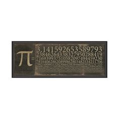 Math lovers will flip for the cool vintage design of this framed wall plaque. Its deep, vintage-inspired styling is perfect for a hardworking home office.  Find the Slice of Pi Wall Plaque, as seen in the The Inventor's Lab Collection at http://dotandbo.com/collections/the-inventors-lab-1?utm_source=pinterest&utm_medium=organic&db_sku=104620