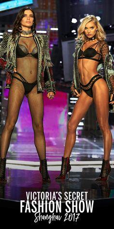 Sara Sampaio & Elsa Hosk in the VS x Balmain collection. Select stores & online. | 2017 Victoria's Secret Fashion Show