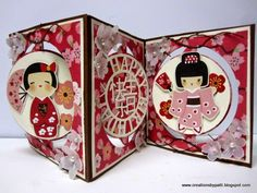 Creations by Patti: Cherry Delight Accordion Circle Card