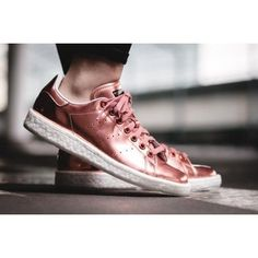 premium selection 4e214 77279 Adidas Stan Smith Boost Champagne Pink Metallic Shoes Sneakers  stan smith