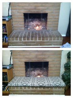 Build a seat to go over the fireplace hearth home ideas need to find a tutorial for this fireplace cushion we need more seating in solutioingenieria Gallery