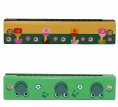 Kids Colorful Harmonica Music Instrumental Kids Educational Learning Wooden Toy