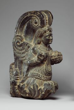 Garland Holder with a Winged Celestial Pakistan (ancient region of Gandhara)
