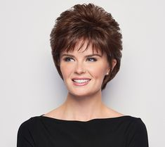 The voluminous crop wig is a short, allover layered cut that allows for varied styling options. Over 60 Hairstyles, Short Shag Hairstyles, Short Hairstyles For Women, Newest Hairstyles, Korean Hairstyles, Everyday Hairstyles, Medium Layered Hair, Medium Hair Cuts, Medium Hair Styles