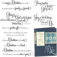 "Close to My Heart My Acrylix Stamp Set Card Chatter—Christmas  Set of 11  Recommended My Acrylix® Blocks:  1"" × 3 ½"" (Y1002), 2"" × 2"" (Y1003), 2"" × 3 ½"" (Y1009)    $17.95"