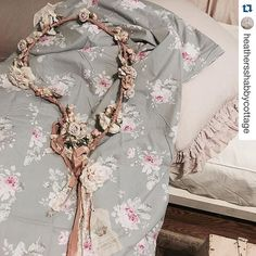 """""""Rose Majesty Bedding collection & Blush Petticoat"""" seen thru the eyes of @heathersshabbycottage #repost (available www.shabbychic.com & stores.)"""