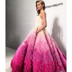 darcymiller: 50 Shades of Pink. @csiriano @kleinfeldbridal #nybfw