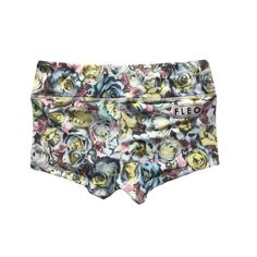 Pastel Roses Spandex Shorts by FLEO