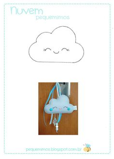 pequemimos: Chaveiro de nuvem - PAP e molde: