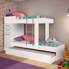 Furniture For Sale Black Friday Small Girls Bedrooms, Bunk Beds For Girls Room, Bunk Bed Rooms, Kids Bunk Beds, Small Room Bedroom, Bedroom Sets, Kids Bedroom Designs, Bunk Bed Designs, Home Room Design
