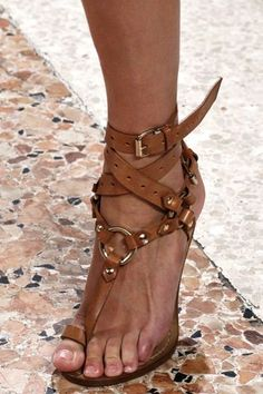 tan strapped Pucci heels