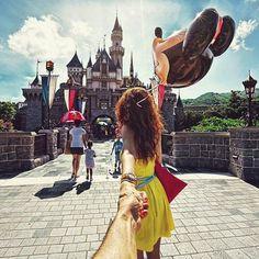 To HK Disney Land.