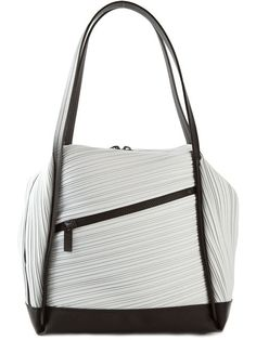 Shop Pleats Please By Issey Miyake asymmetric pleated tote in Bernardelli  from the world s best independent cf4d6cd961