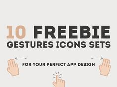 10 Freebie Gestures Icons Sets for your perfect App design
