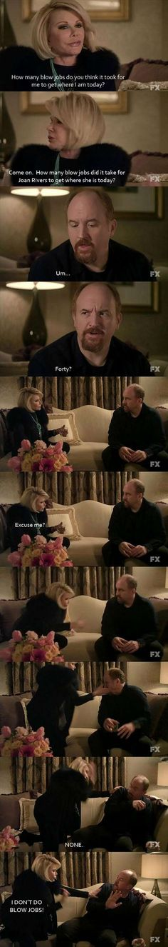 Joan Rivers and Louis C.K. -- Two of my favorite comedians!