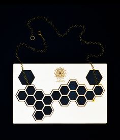 Jenia . lasercut poplar wood . hexagon necklace . contemporary jewelry design www.jeniadesign.com Machining Process, Geometry, Jewelry Design, Jewels, Jewellery, Diamond, Jewelery, Jewelry Shop, Jewerly