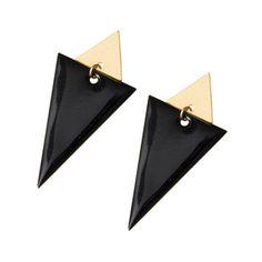 Image of Black triangle earrings