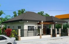 Clarissa One Story House With Elegance Shd 2015020 Pinoy Eplans Story House One Story Homes House Design Pictures