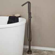 Jasper Free Standing Angled Tubular Spout Faucet w/Handshower - Oil Rubbed Bronze CODE: 107577
