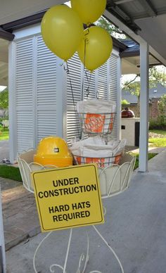 Construction Party Ideas Home Depot Aprons and Orange Safety Vests. Construction Hard Hats with Under Construction Sign. Under Construction Party Ideas – Hard Hat Required! Under Construction Party Ideas – Hard Hat Required! Construction Birthday Parties, Construction Party, 4th Birthday Parties, Birthday Fun, Fireman Birthday, Birthday Recipes, Dump Truck Party, Dump Trucks, Second Birthday Ideas