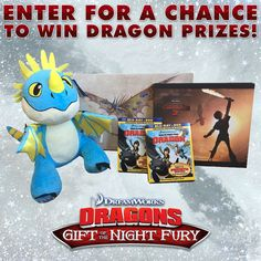 Enter for a chance to win awesome Dragon prizes! Participate in our Twitter watch party today at 5:00pm PT / 8:00pm ET and tweet along with us with #SnoggletogParty for a chance to win! http://bit.ly/DragonsHolidayPartyFB