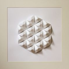 Paper Crystal Mosaic Relief Wall Art Geometric by LightningFold