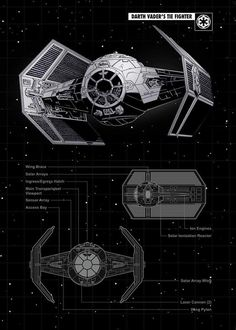 Tie Vader poster by from collection. Images Star Wars, Star Wars Pictures, Star Citizen, Film Science Fiction, Nave Star Wars, Cuadros Star Wars, Star Wars Spaceships, Star Wars Vehicles, Star Wars Models