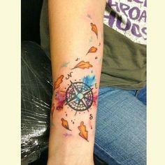 Beautiful Pocahontas inspired compass on @skywalker_r23po #inkeddisney