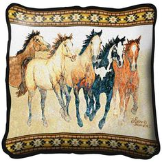 Steppin' Out Wild Horse Throw Pillow