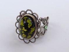Filigraner Ring in silber mit echten Blumen von Schmuckdesign-Onlineshop auf DaWanda.com