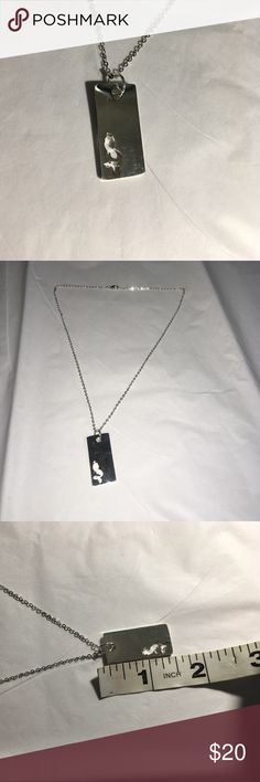 """{3F20} mermaid necklace On 19"""" necklace chain. Silver plated over alloy. Yes this DOES apply to the 3 for $20 bundle deal. Just add 3 items with {3F20} in the title to a bundle. Then submit a offer for $20 (****ONLY APPLIES TO ITEMS W/ """"{3F20}"""" IN TITLE****) *ship same/next day *no holds/trades *pet free *smoke free home Jewelry Necklaces"""