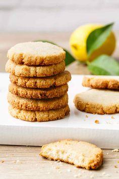 Mind-Blowing Lemon Cookies (Made with Almond Flour) – Paleo Grubs Coconut Oil Cookies, Coconut Biscuits, Lemon Cookies, Paleo Biscuits, Paleo Sweets, Paleo Dessert, Gluten Free Desserts, Dessert Recipes, Cookies Healthy