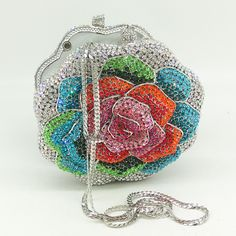 Crystal Diamond, Unique Bags, Clutch Bags, Pink Butterfly, Metal Chain, Evening Bags, Processing Time, Purses And Handbags, Iphone 7